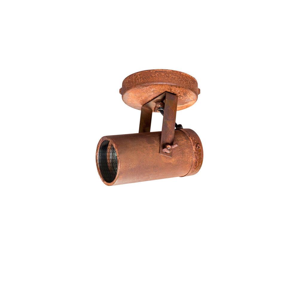 Dutchbone Applique et plafonnier industriel rouille