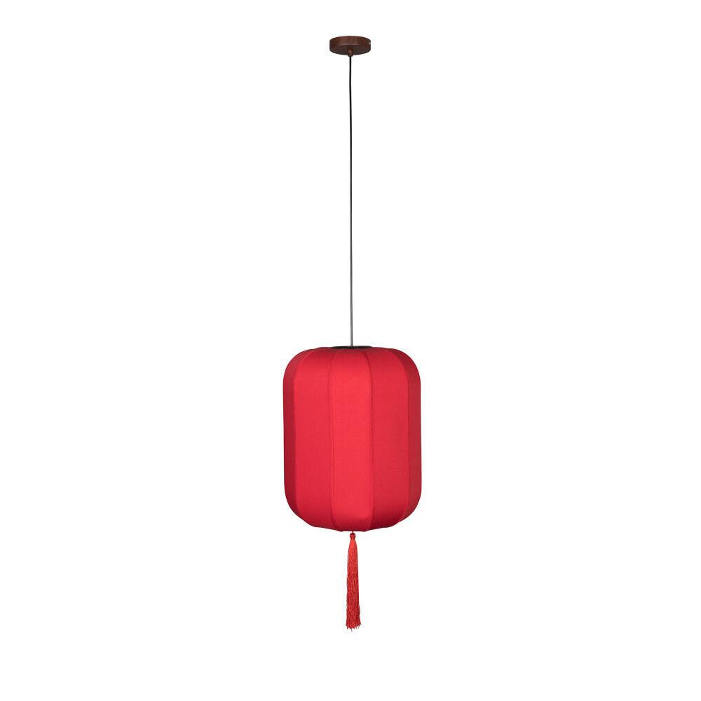 Dutchbone Suspension style lanterne japonaise D40cm rouge