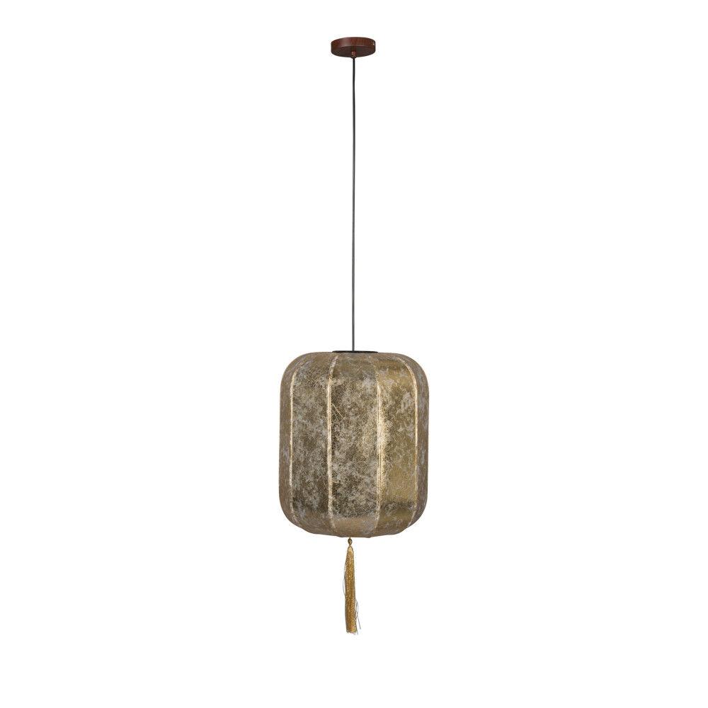 Dutchbone Suspension style lanterne japonaise D40cm or
