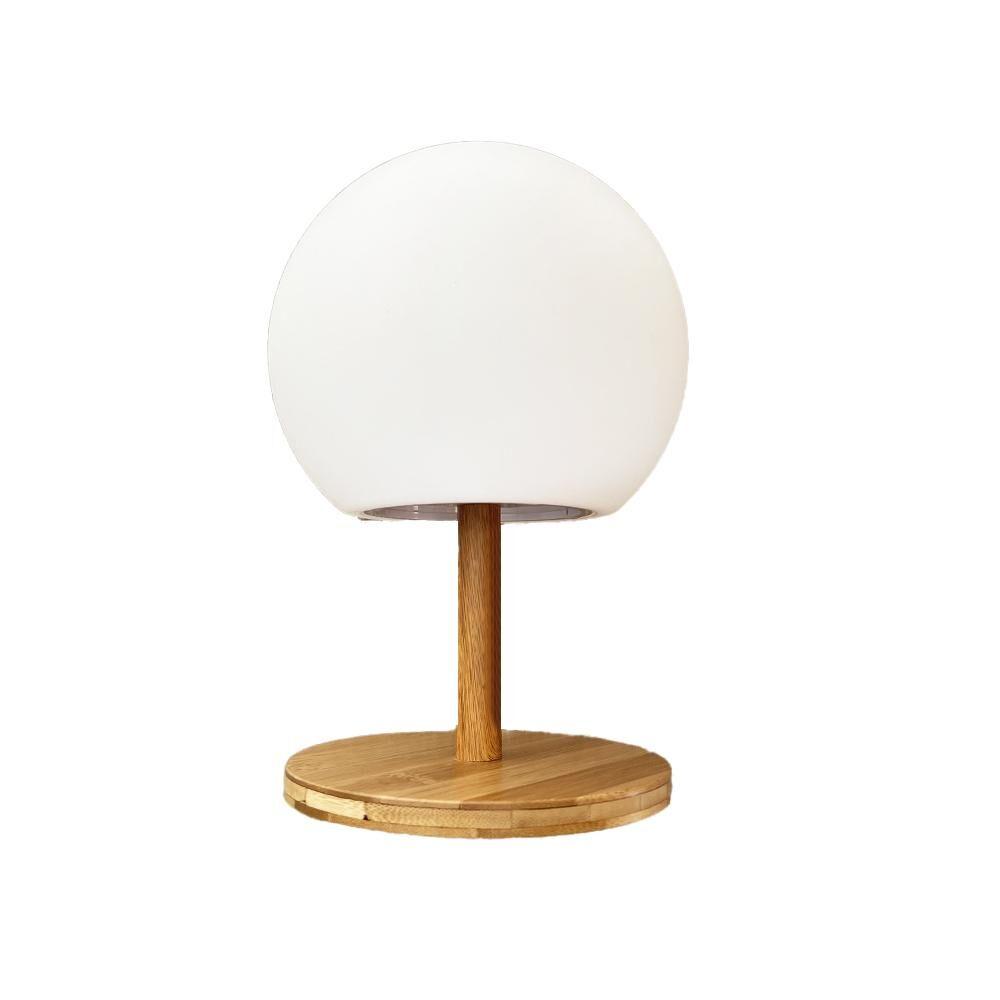 LUMISKY LUNY-Lampe de table extensible bambou bois blanc H28cm