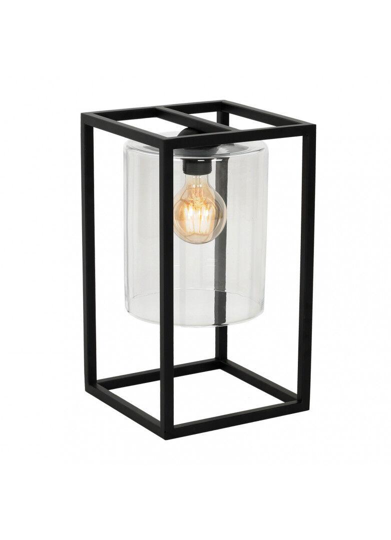Créations Léonie's France Lampe à poser rectangulaire métal noir