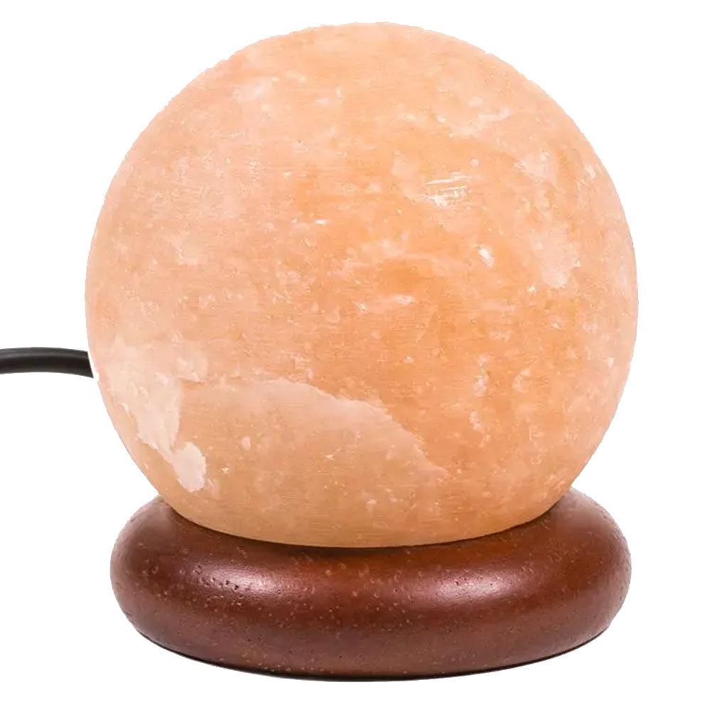 Mani Bhadra Mini lampe sphre de sel de l'Himalaya orange LED