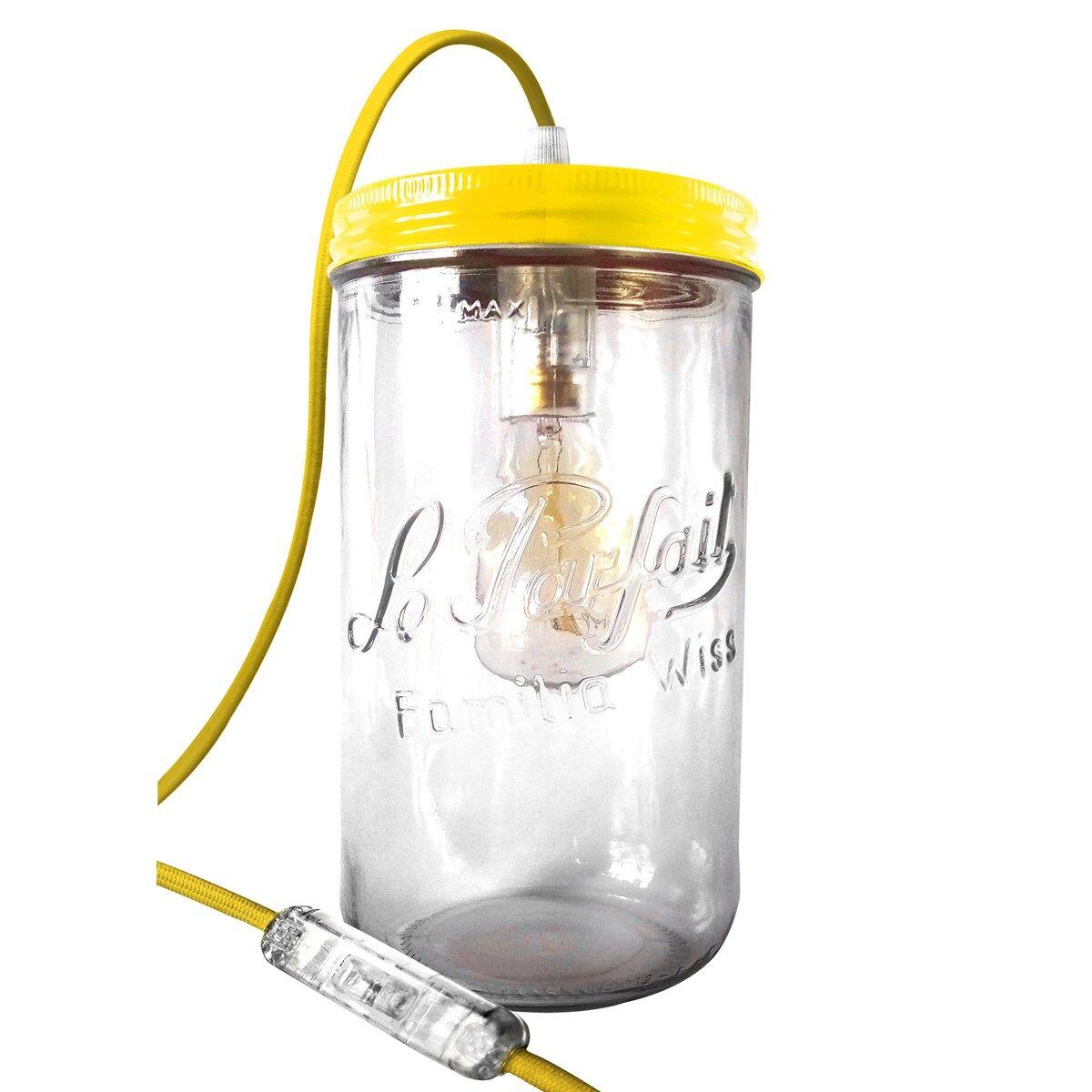Fenel & Arno Lampe bocal XL en verre jaune