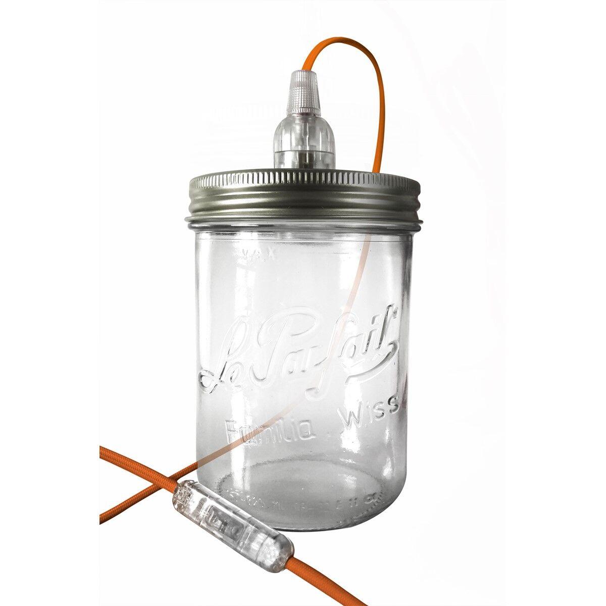 Fenel & Arno Lampe bocal en verre orange