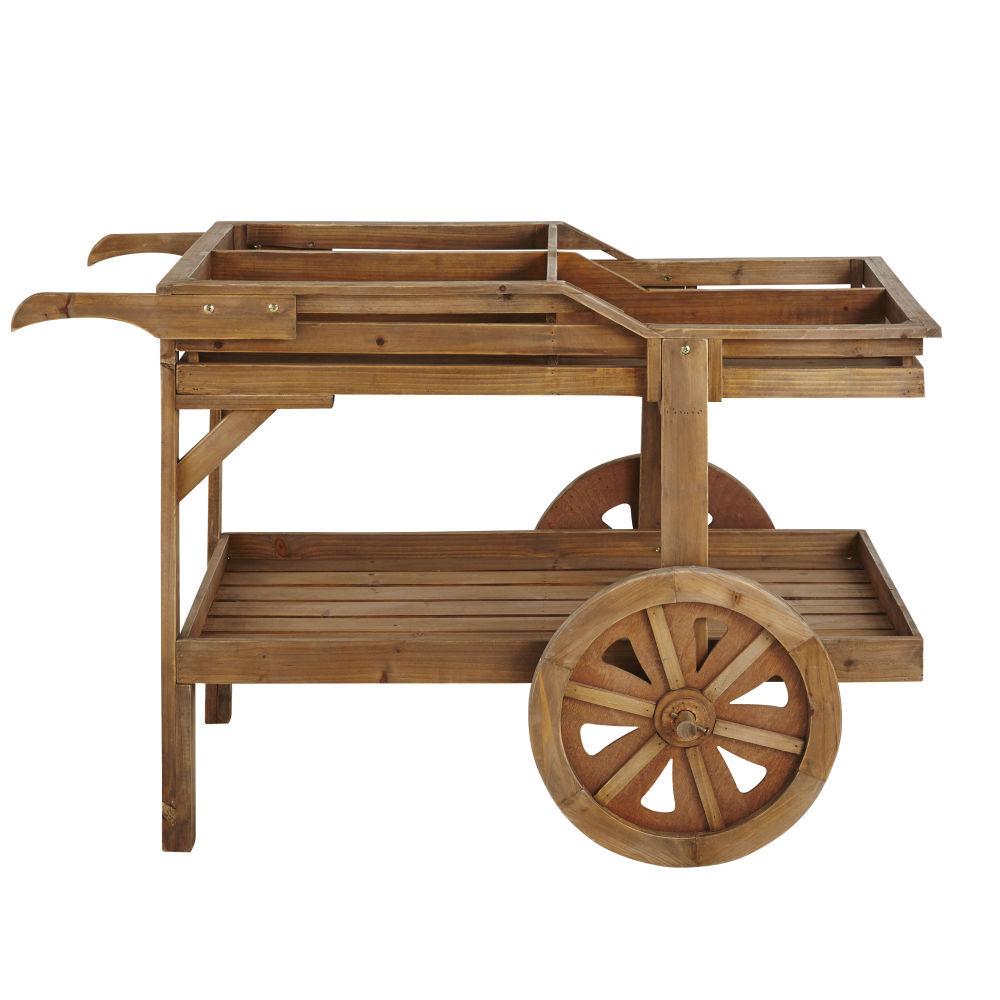 Maisons du Monde Chariot 2 roues en sapin vieilli