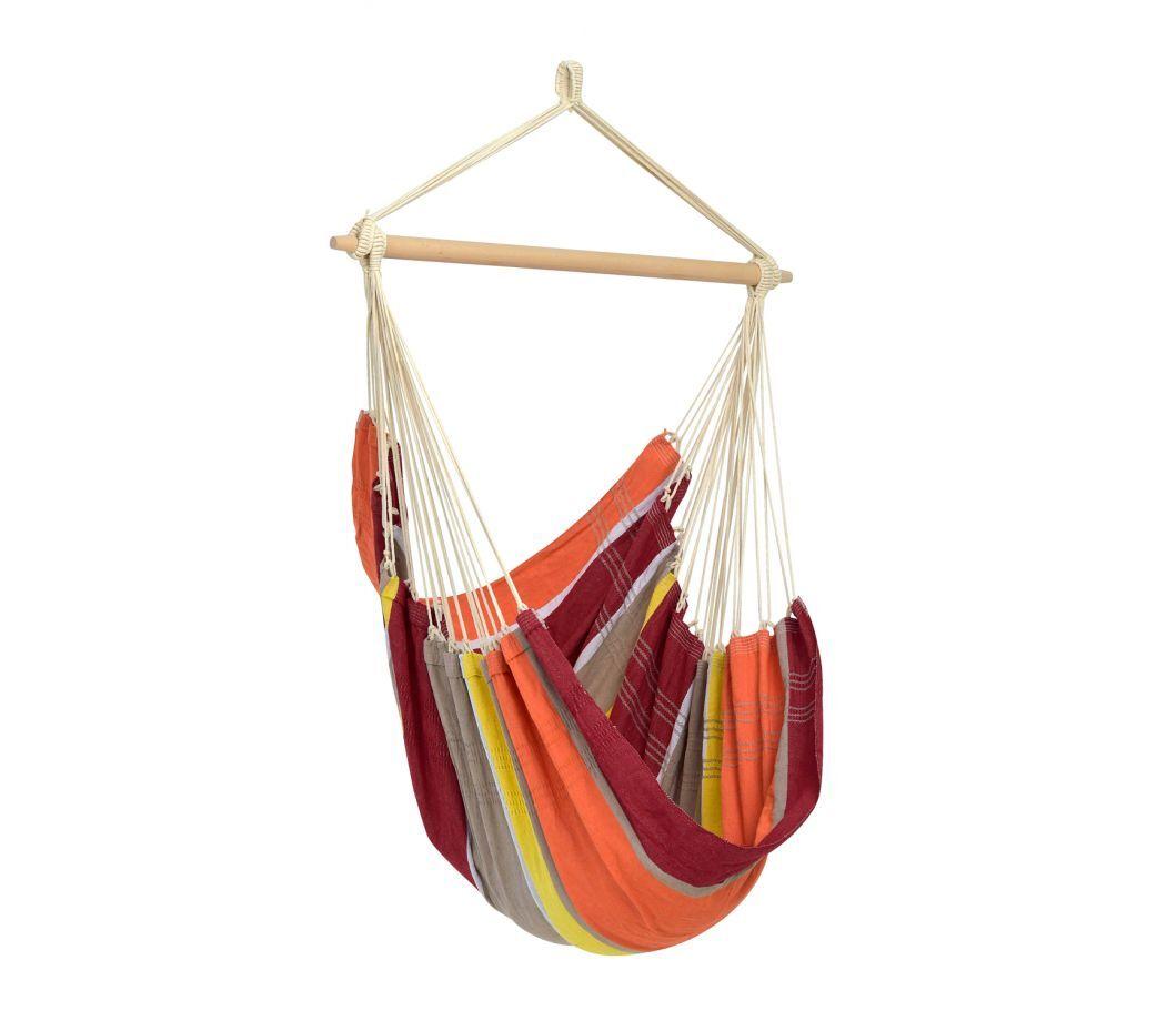 Amazonas Hamac chaise large en coton acérola