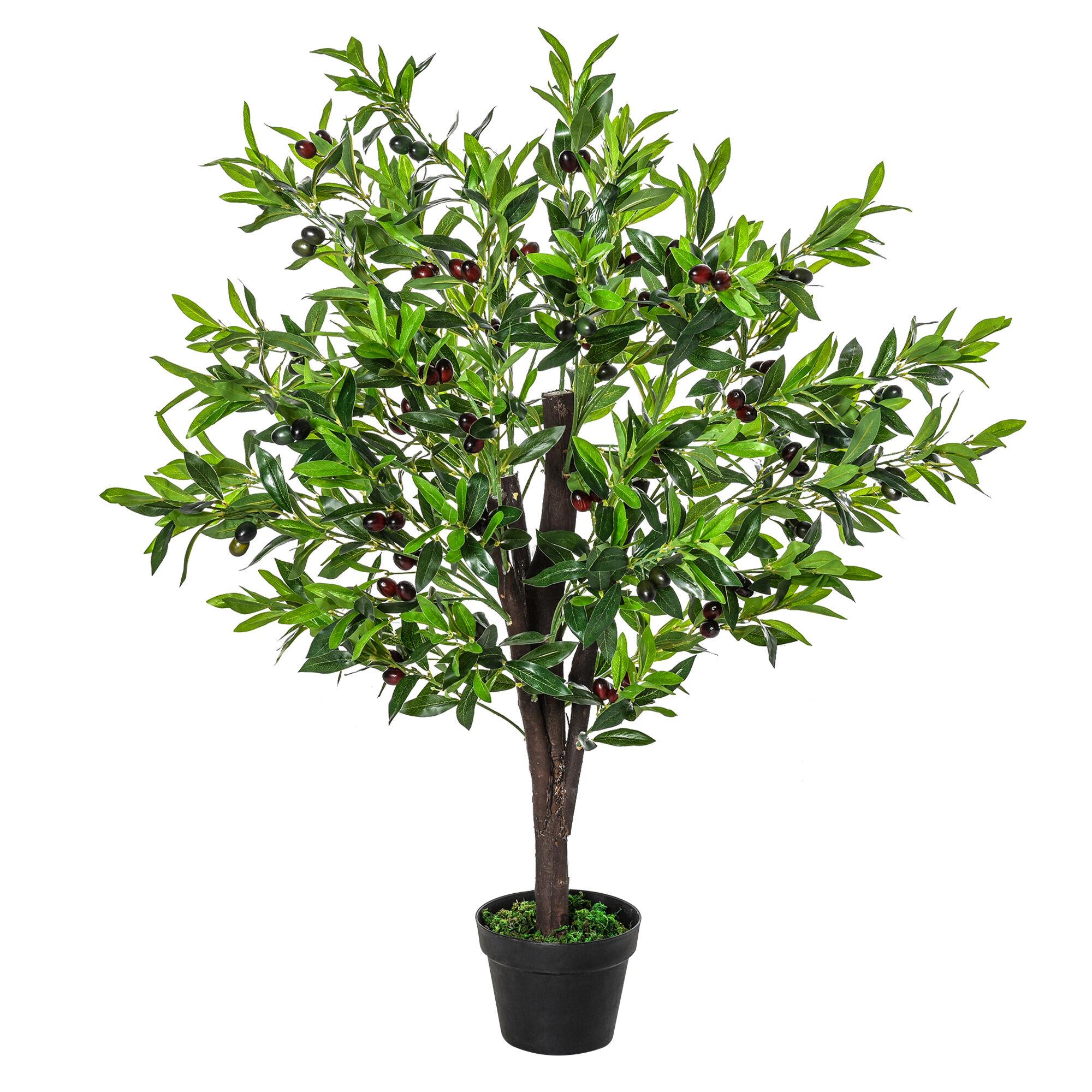 Outsunny Arbre artificiel olivier H1,2m