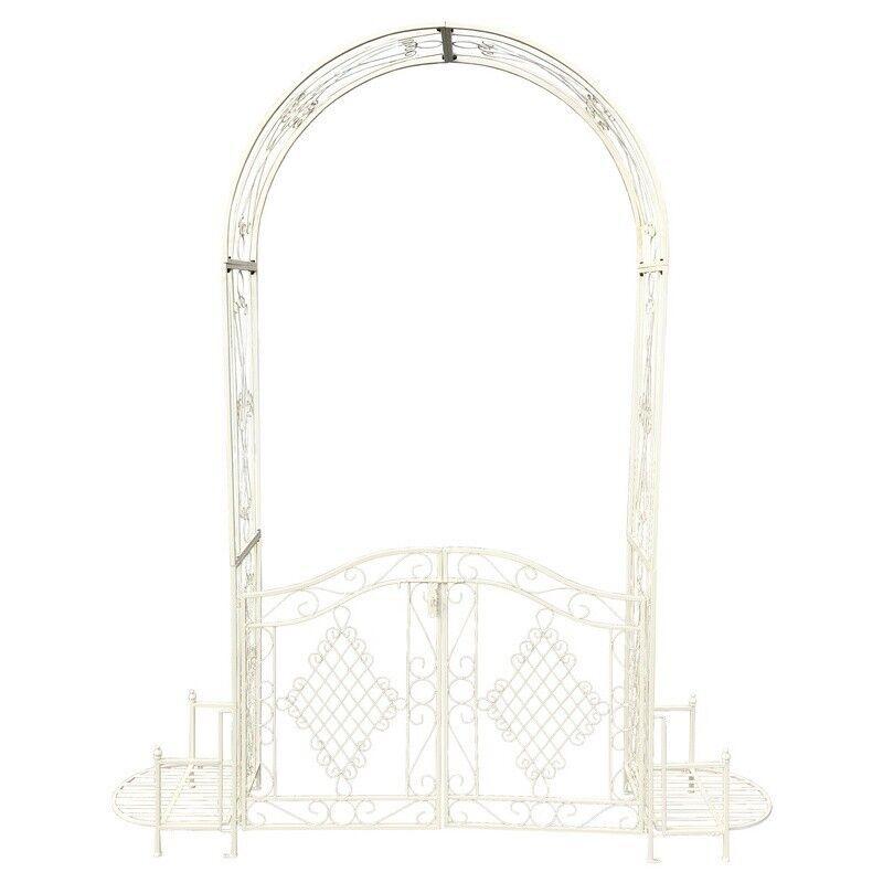 Chemin de Campagne Arche de jardin en fer blanc