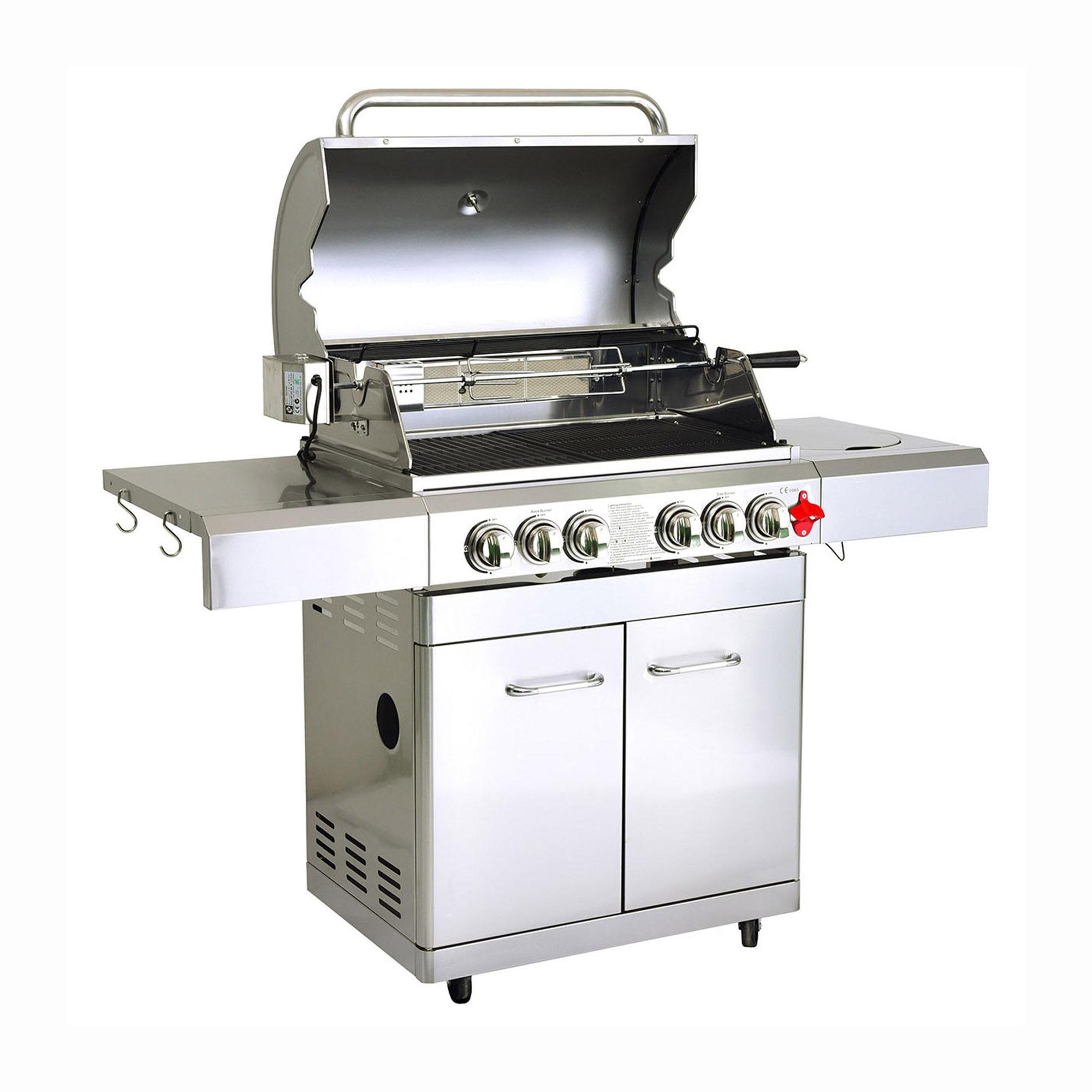 Greaden Barbecue  gaz 5 brleurs en acier inox
