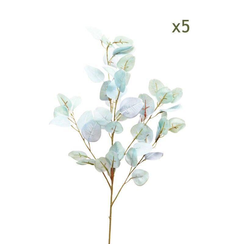 Ligne Déco 5 branches d'eucalyptus effet blanchi 88cm