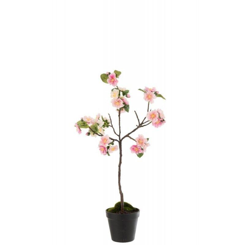 LANADECO Arbre en fleurs plastique rose/marron H50cm