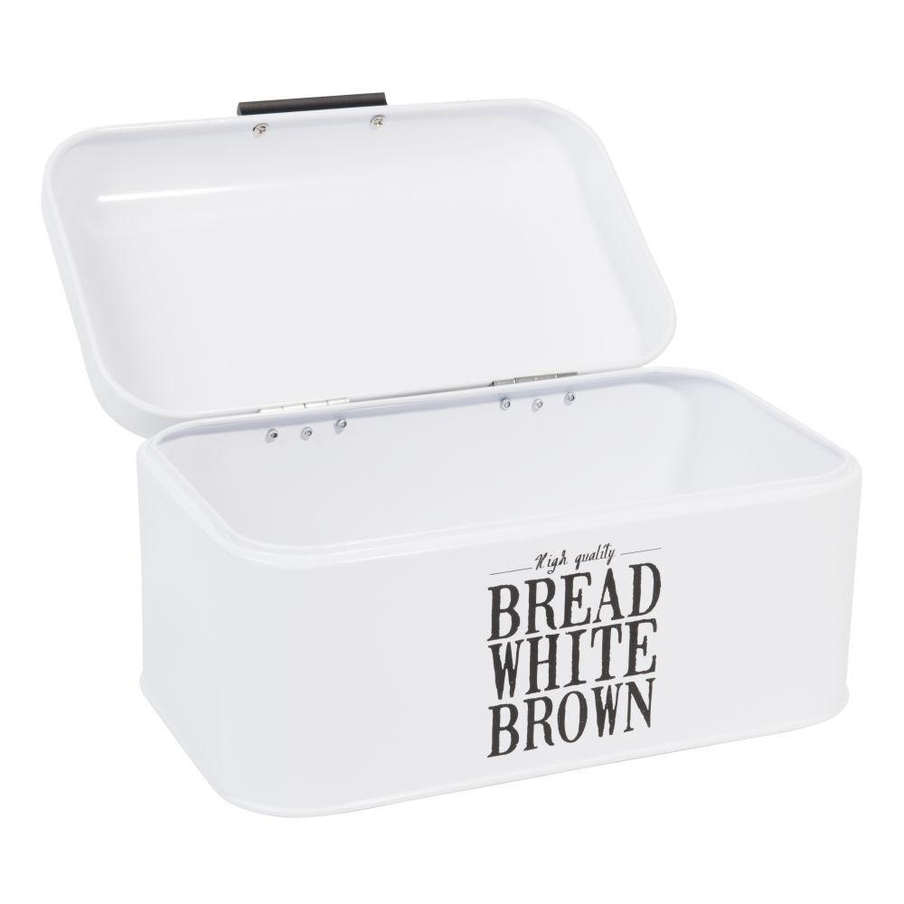 Maisons du Monde Boîte à pain en métal blanche WALLACE