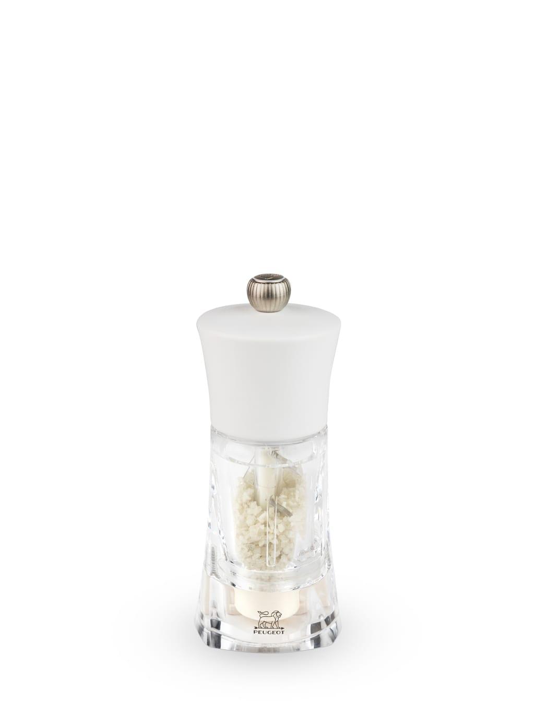 Peugeot Saveurs Moulin  sel humide manuel bois et acryl blanc H14cm