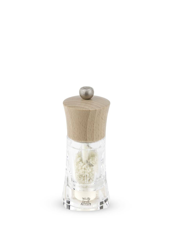 Peugeot Saveurs Moulin  sel humide manuel bois et acryl naturel H14cm