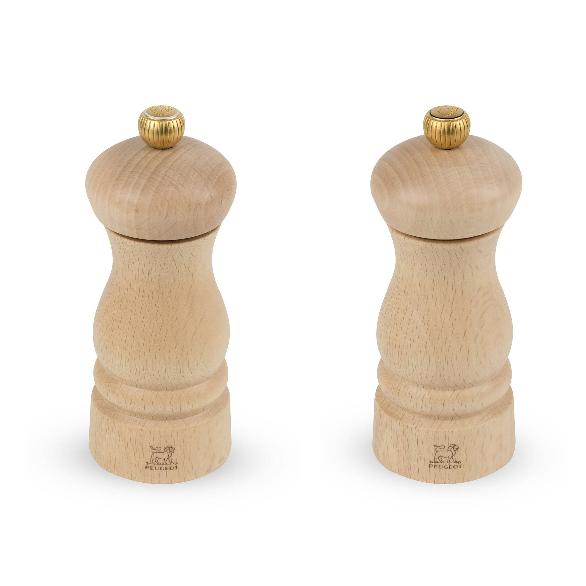 Peugeot Saveurs Duo de moulins  poivre et  sel en bois naturel H13cm