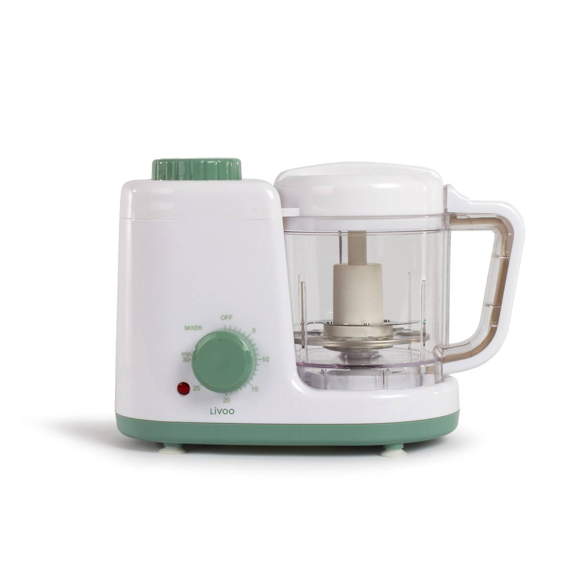 Livoo Robot mixeur cuiseur bébé 4 en 1 en acier inoxydable blanc