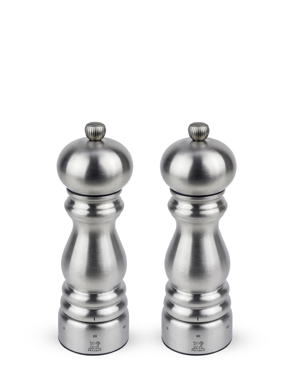 Peugeot Saveurs Duo de moulins  poivre et  sel en inox u'select H18cm