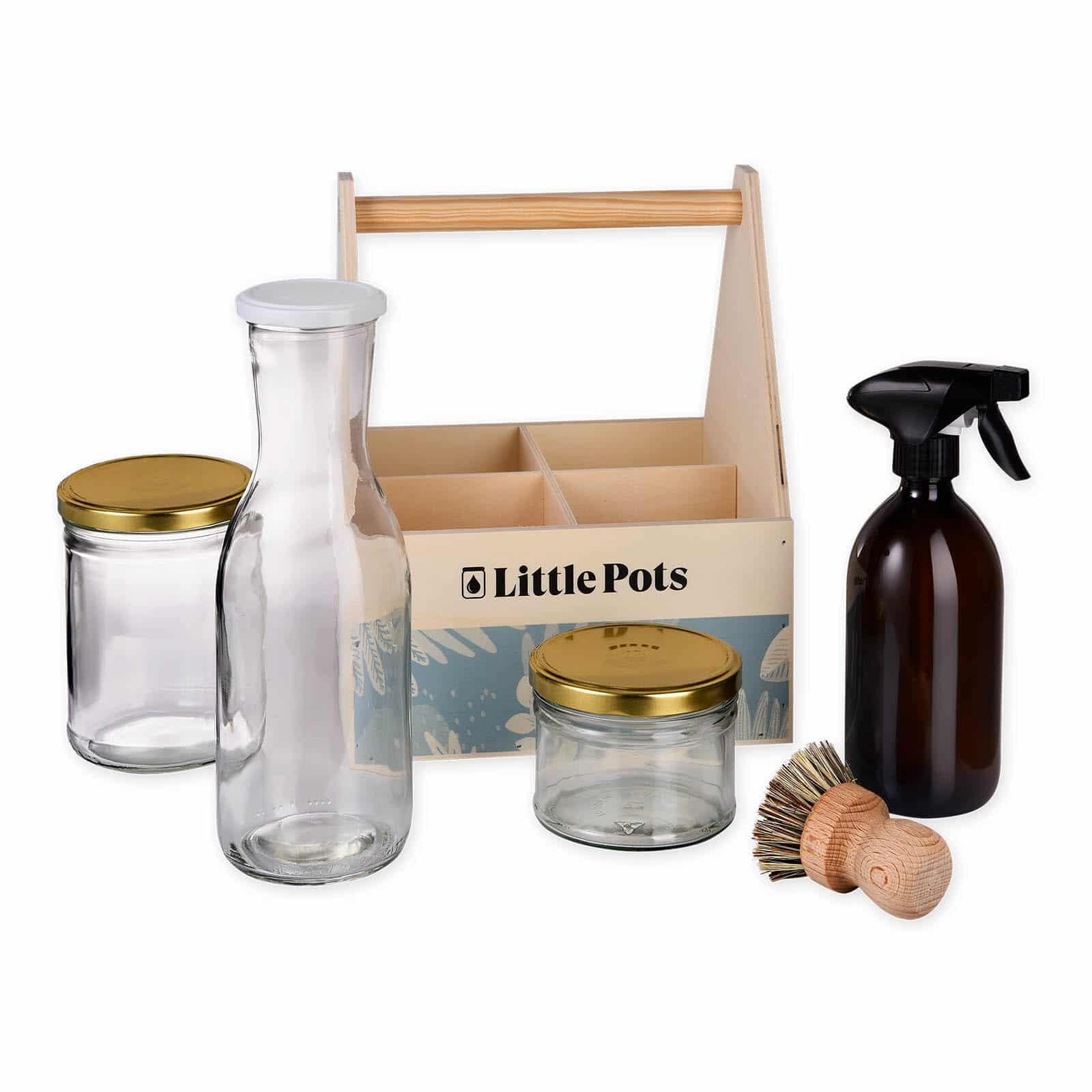 Little Pots Kit le tout propre contenants en verre pour produits ménagers maison