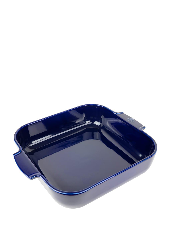Peugeot Saveurs Plat  four carré en céramique bleu profond 36x36cm
