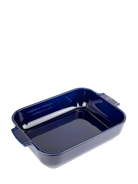 Peugeot Saveurs Plat four céramique rectangle bleu profond 32cm