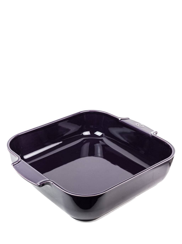 Peugeot Saveurs Plat  four carré en céramique aubergine 36x36cm