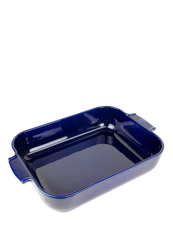 Peugeot Saveurs Plat four céramique rectangle bleu profond 40cm