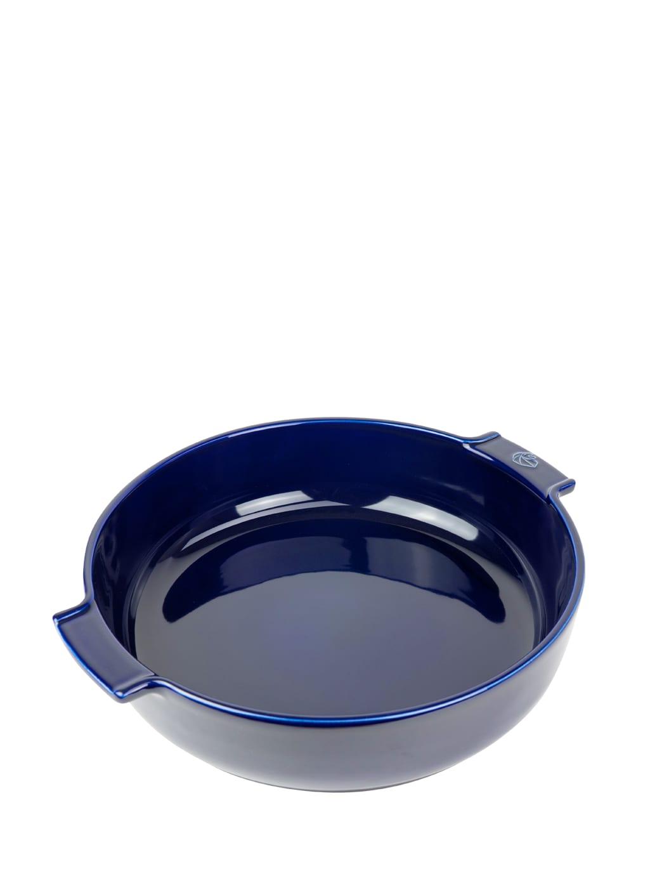 Peugeot Saveurs Plat  four rond en céramique bleu profond D34cm