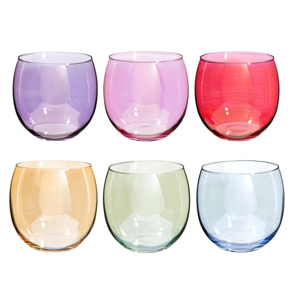 Maisons du Monde Coffret 6 gobelets en verre multicolore COLORAMA