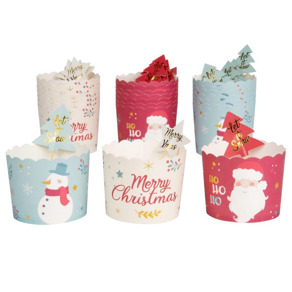 Maisons du Monde Coffret caissettes à cupcakes en papier multicolore imprimé (x18)