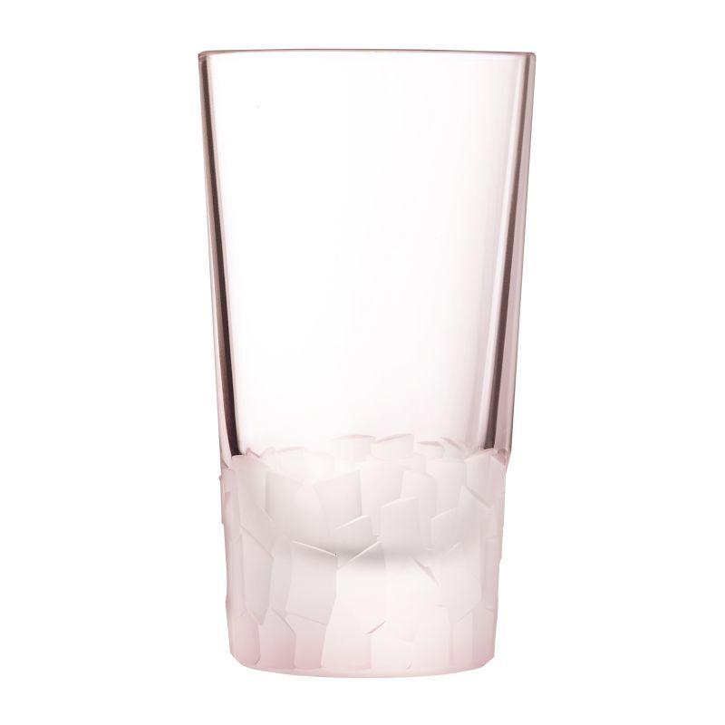 Cristal dArques Gobelet forme haute 33cl rose - Lot de 6