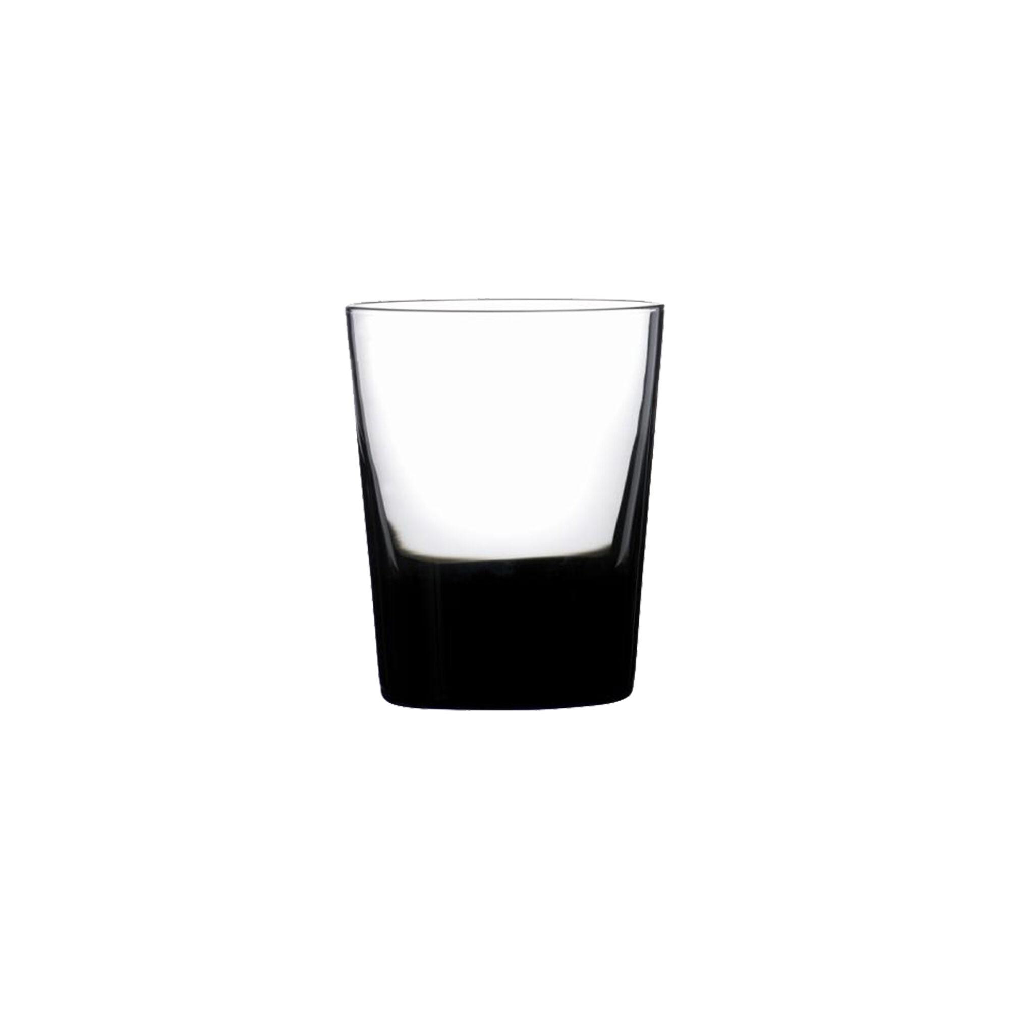 Sibo Homeconcept Gobelet en verre soufflé bouche noir 39 cl - Lot de 6