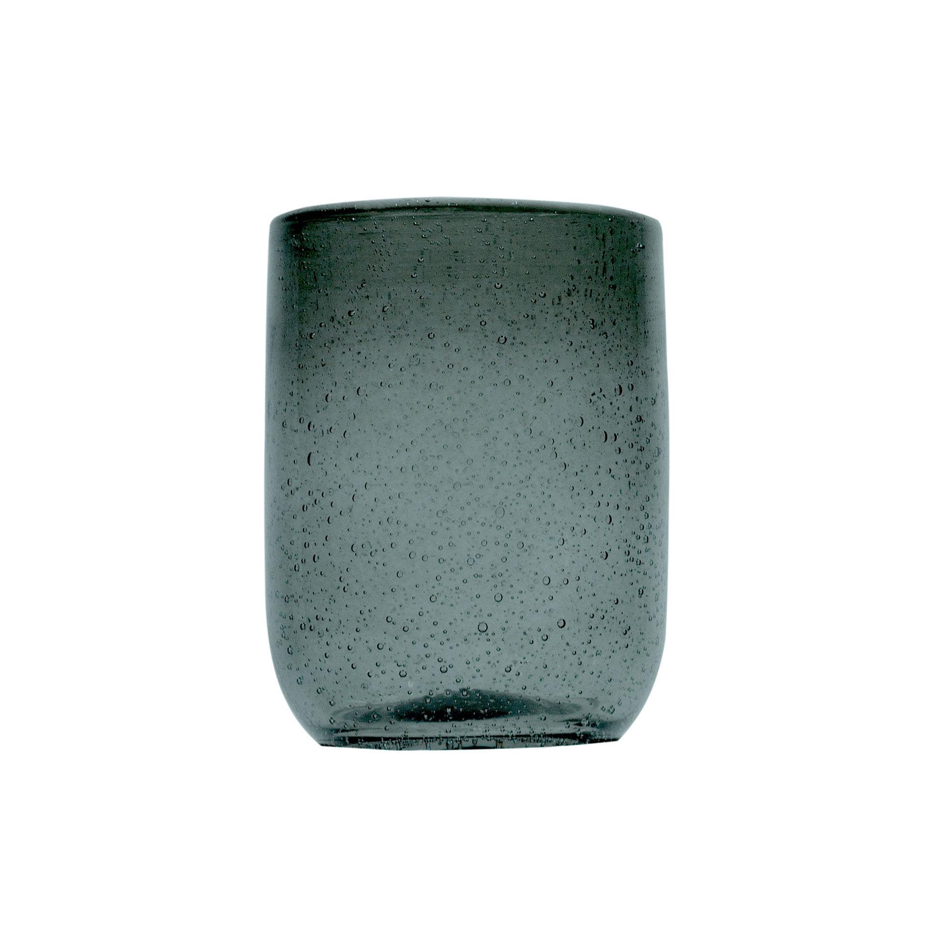 Sibo Homeconcept Gobelet en verre bullé ambre gris 28 cl - Lot de 6
