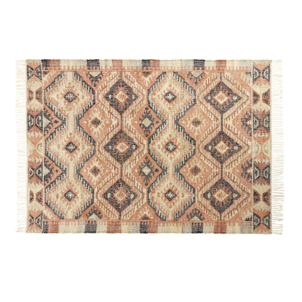 Maisons du Monde Tapis kilim en laine multicolore 140x200