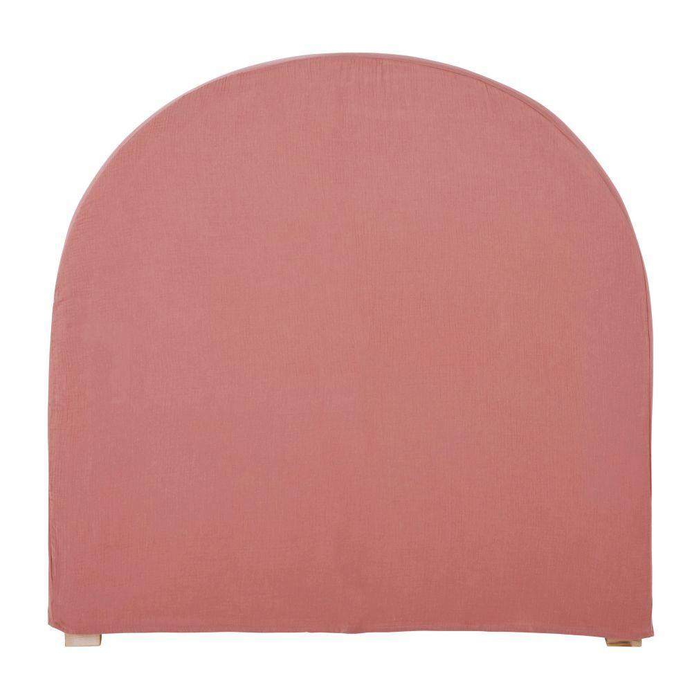 Maisons du Monde Housse de tte de lit 90 en gaze de coton bio rose framboise
