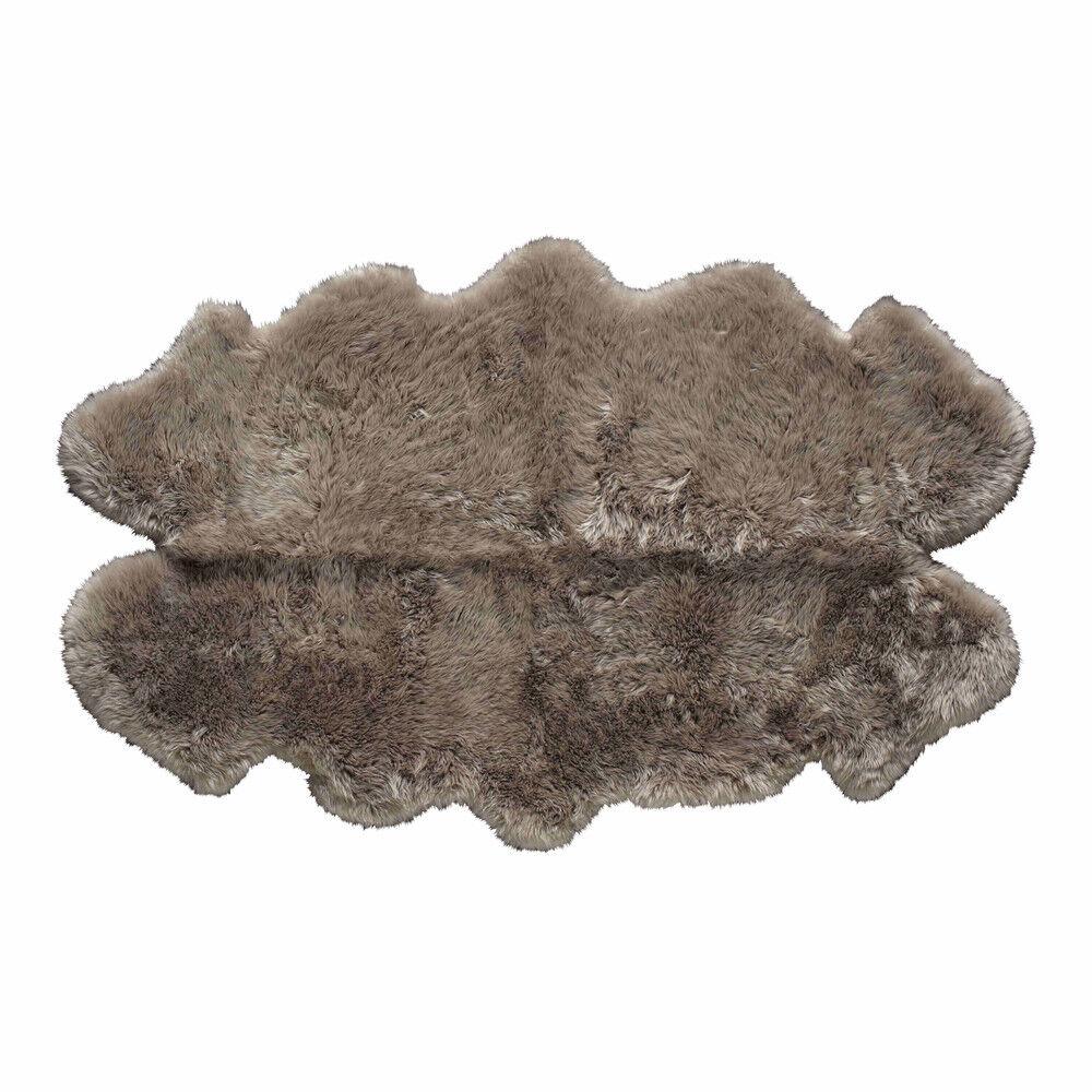 Maisons du Monde Tapis en peau de mouton beige 110x180