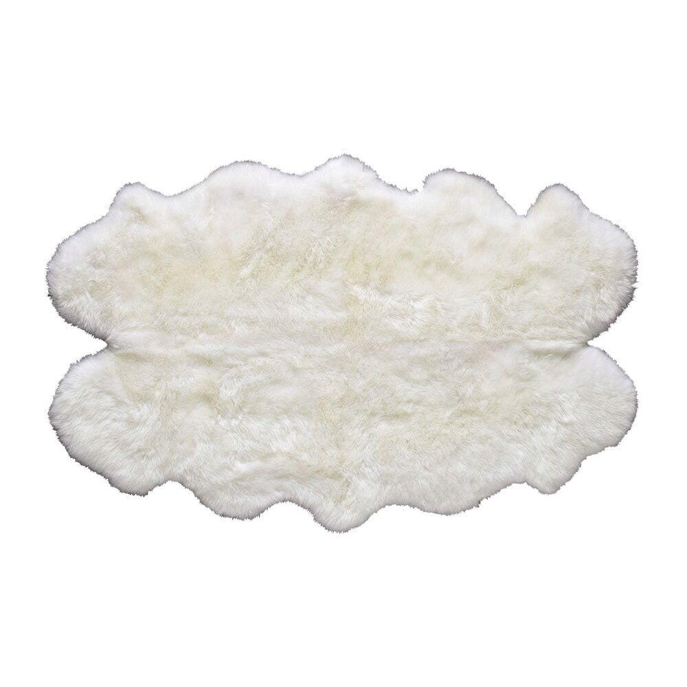 Maisons du Monde Tapis en peau de mouton ivoire 110 x 180 cm