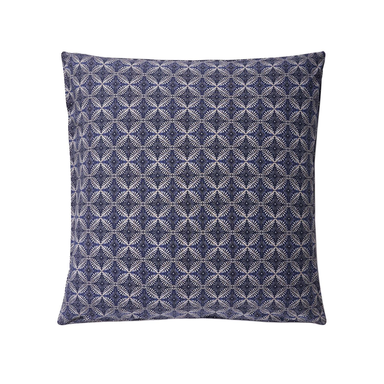 Essix Taie d'oreiller carrée en coton bleu 65x65