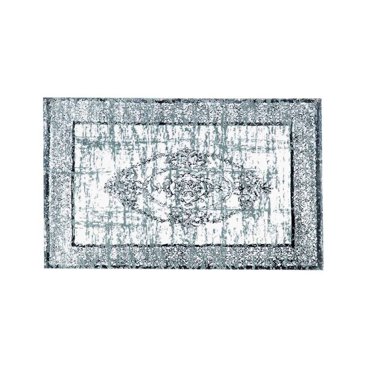 Sensei Tapis de salon et salle de bain 100% cot Aqua 50x80