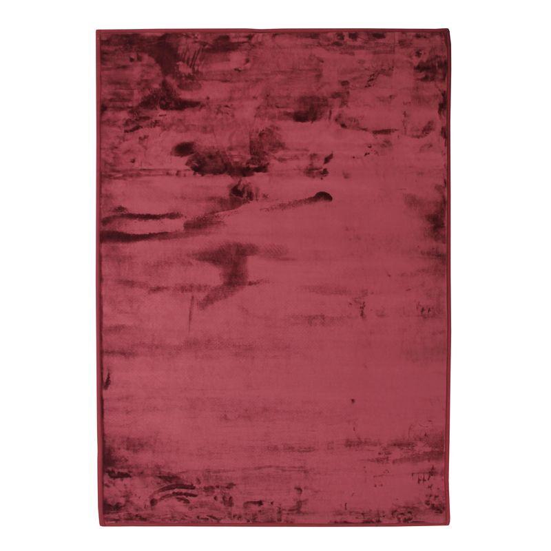 The Deco Factory Tapis extra-doux effet velours rouge foncé 120x170