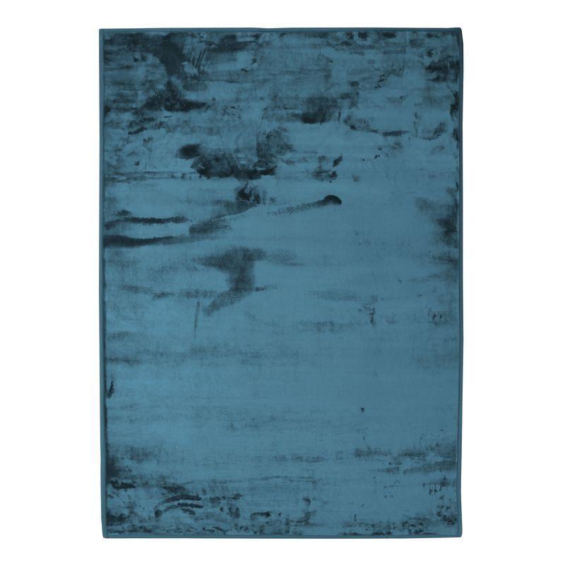 The Deco Factory Tapis extra-doux effet velours bleu foncé 120x170