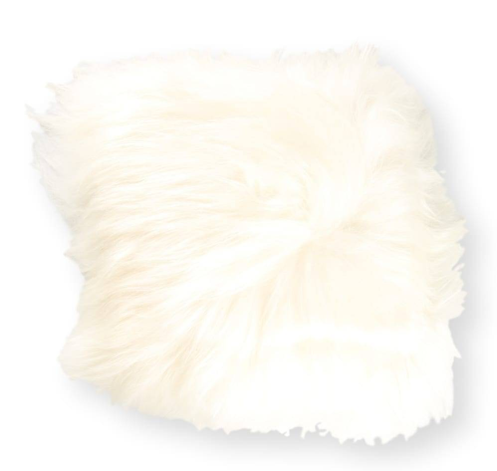 Esbeco Coussin en peau de mouton islandais blanc 35x35