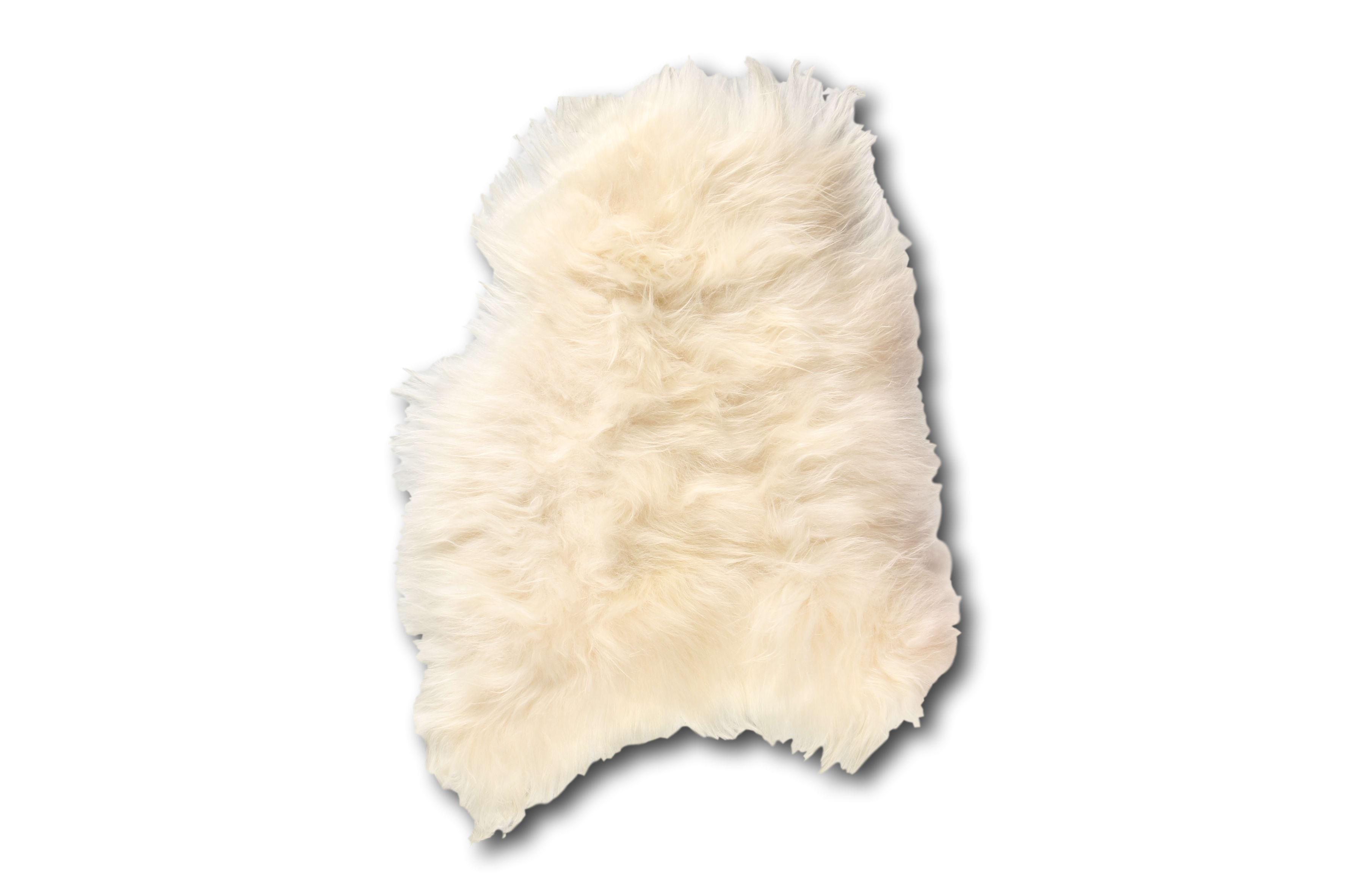 Esbeco Tapis en peau de mouton islandais blanc 90x60