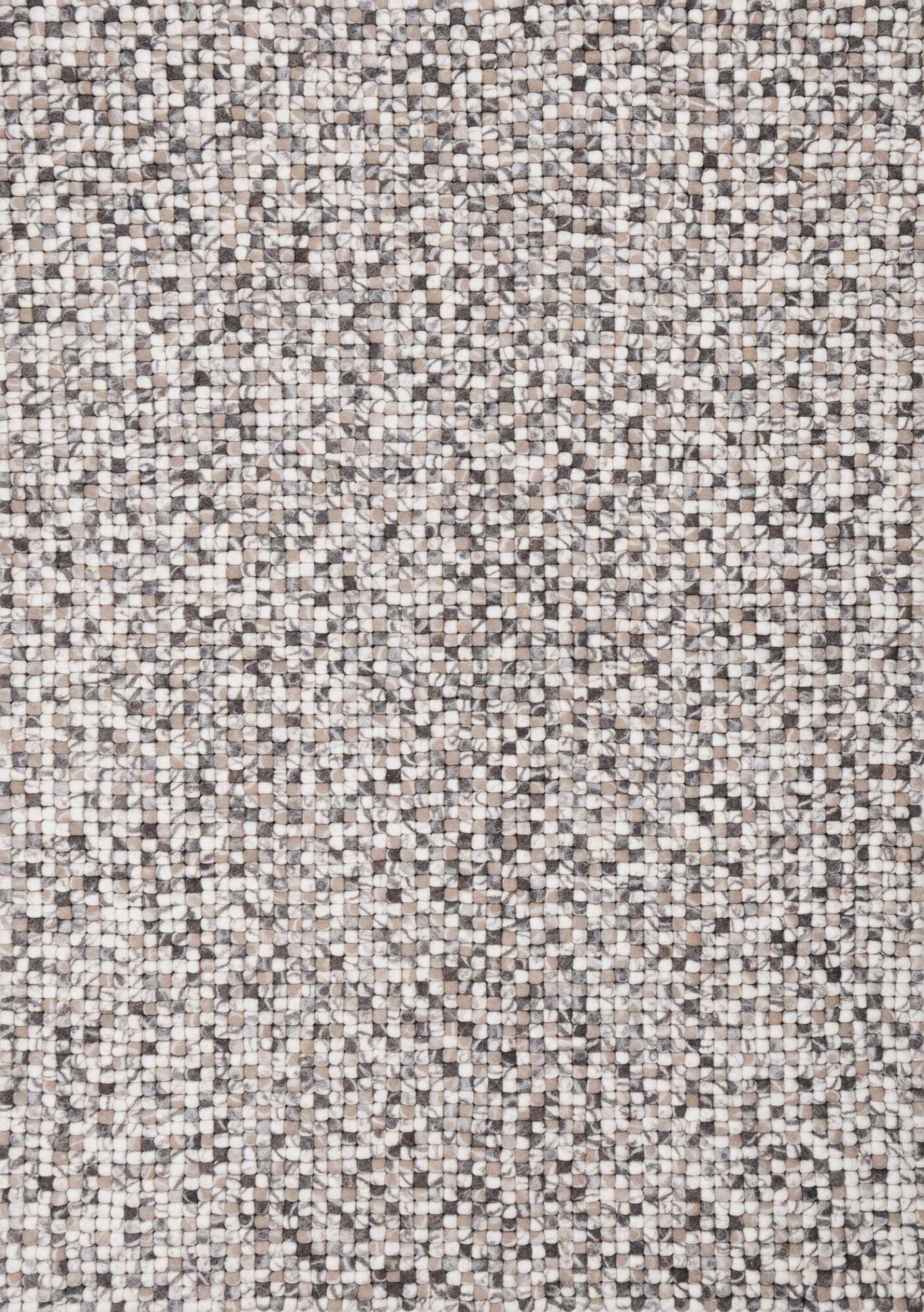 THEKO Tapis feutré balle en laine fait  la main nature 70x140