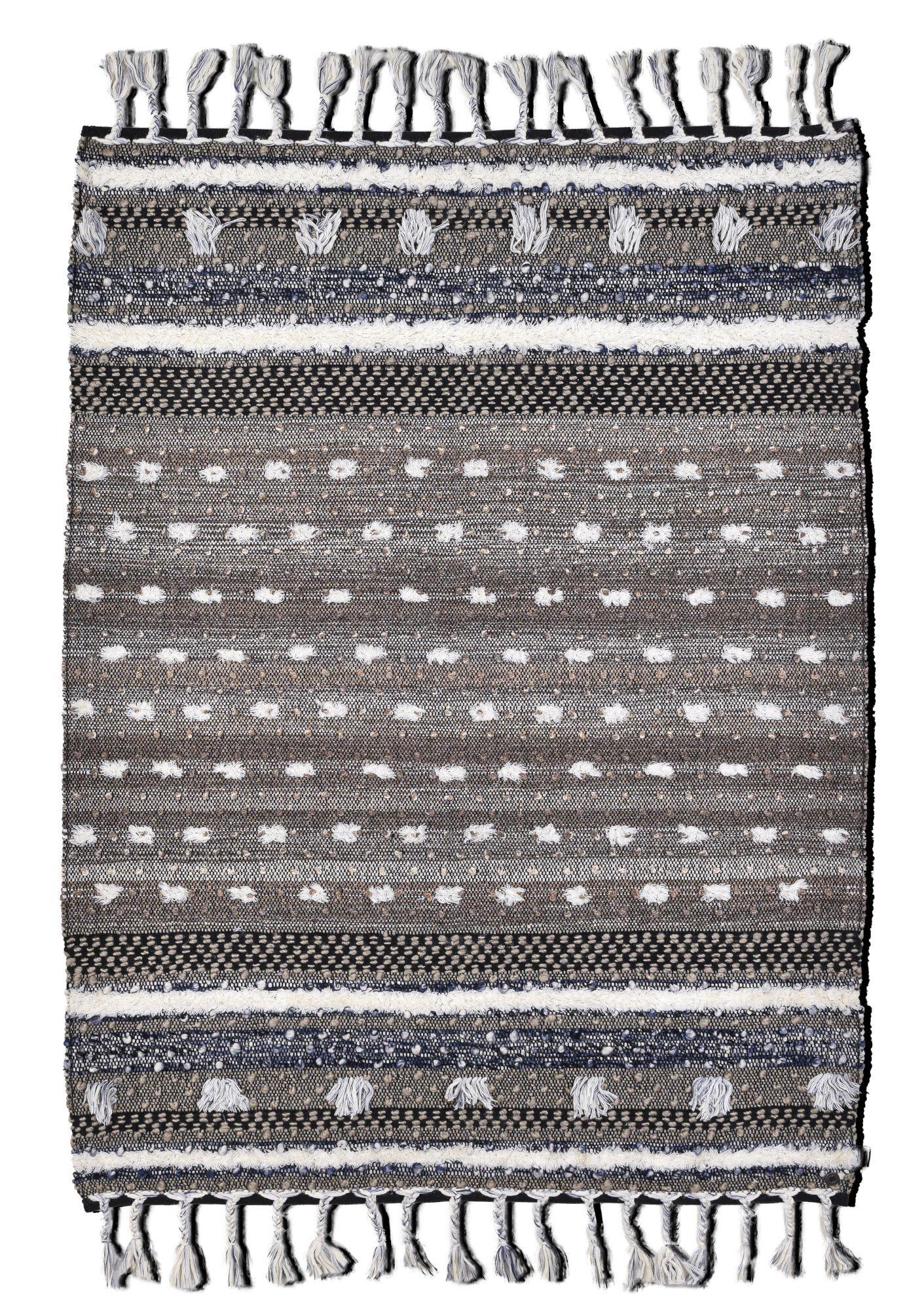 Tom Tailor Tapis kelim Berber en laine fait  la main nature 160x230