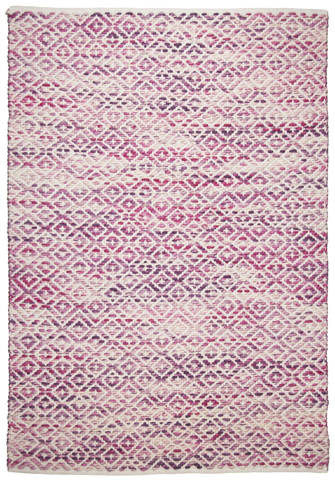 Tom Tailor Tapis moderne en laine fait  la main rose 140x200