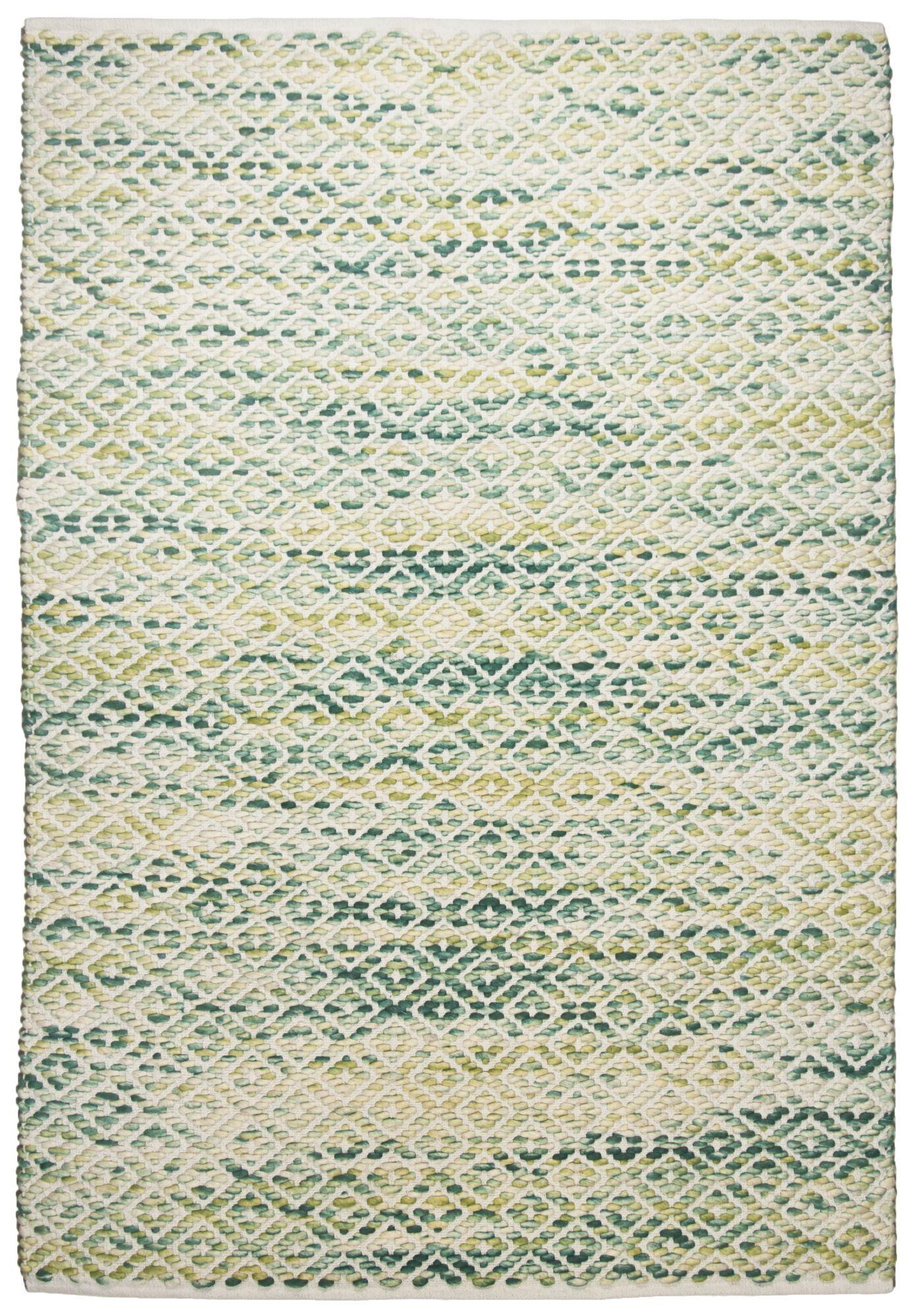 Tom Tailor Tapis moderne en laine fait  la main vert 65x135