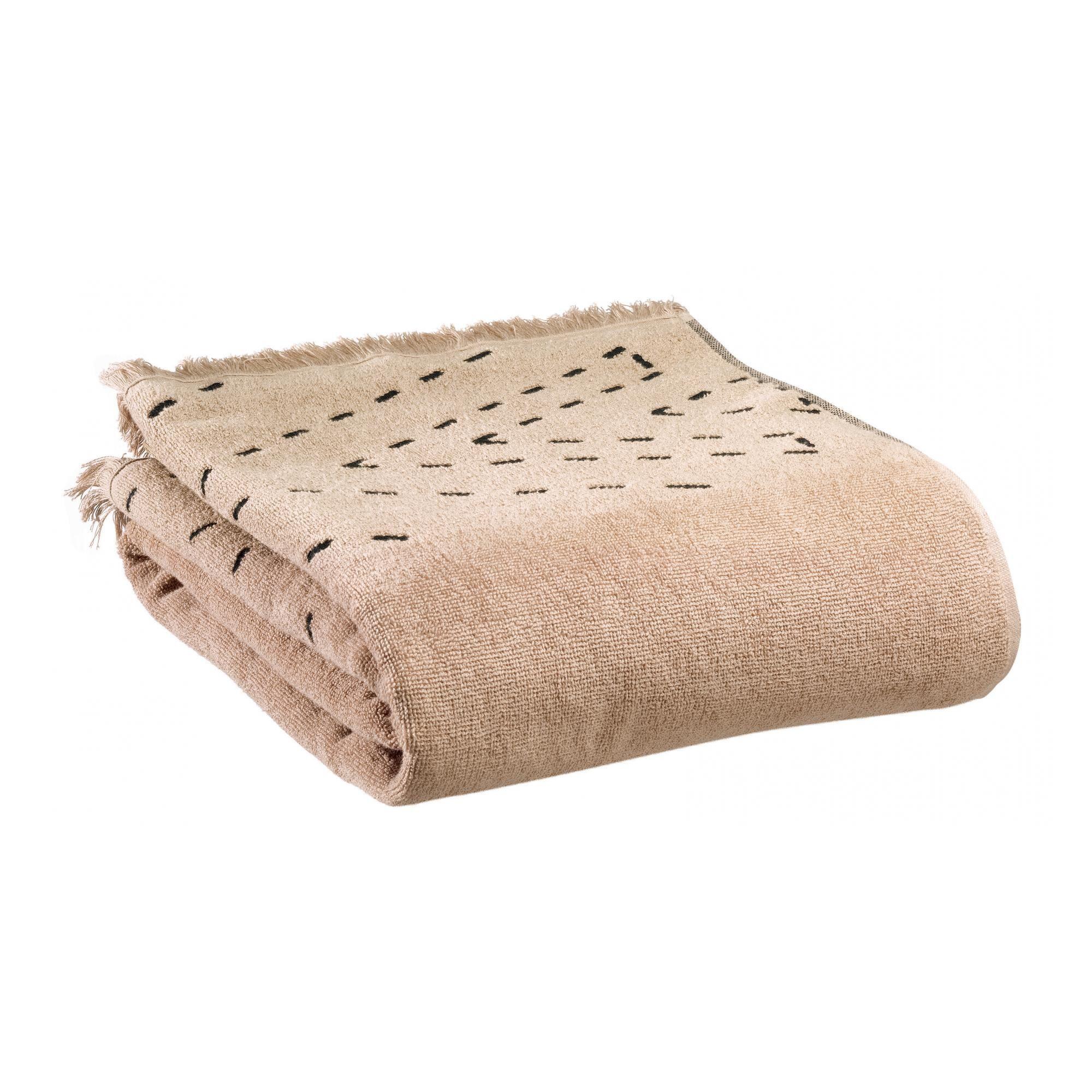 Vivaraise Drap de bain  en coton sesame 90 x 150