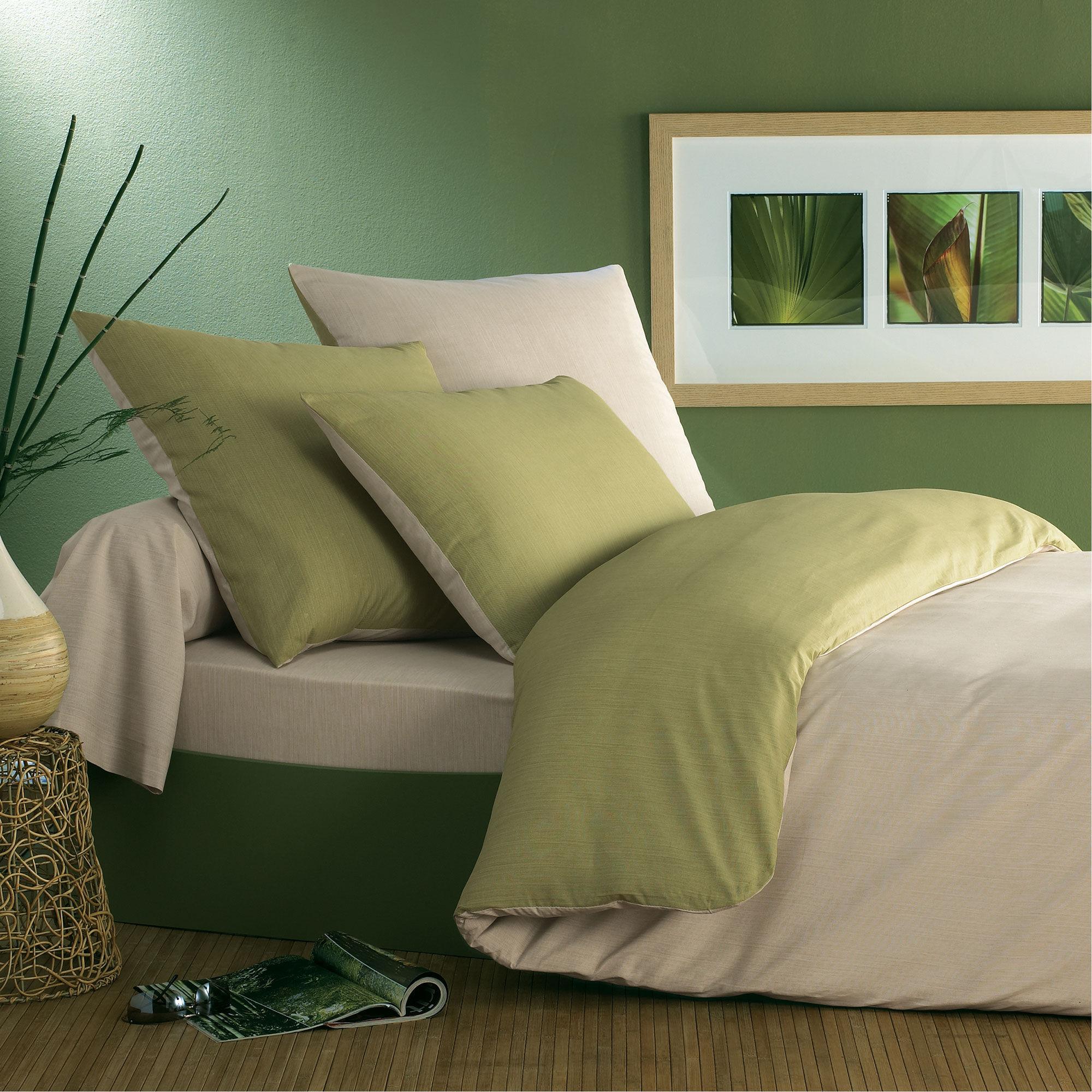 Origin Housse de couette bicolore en bambou  bicolore 140 x 200