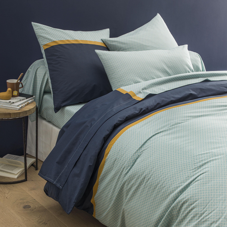 Origin Parure de lit imprimée en lyocell bleu 240x260
