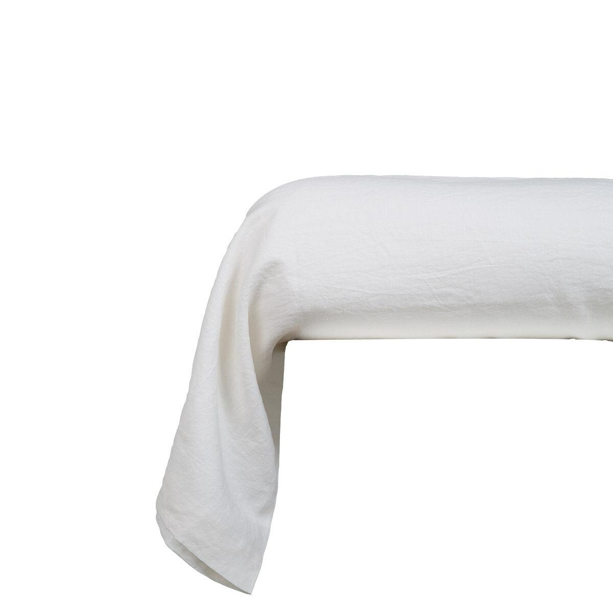 Olivier Desforges Taie d'oreiller Lin Blanc 85 x 210 cm